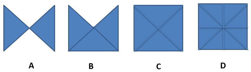 Choisissez parmi ces 4 modèles pour le test de figures géométriques