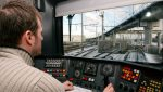 conducteur de train passant un examen de conduite
