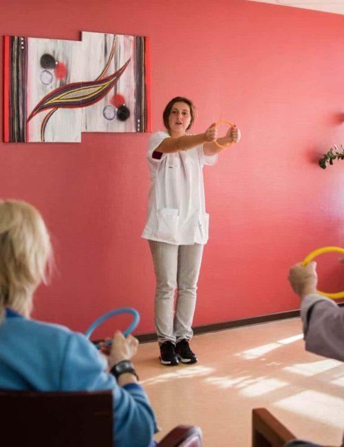 Activité pour les personnes âgées chez Korian