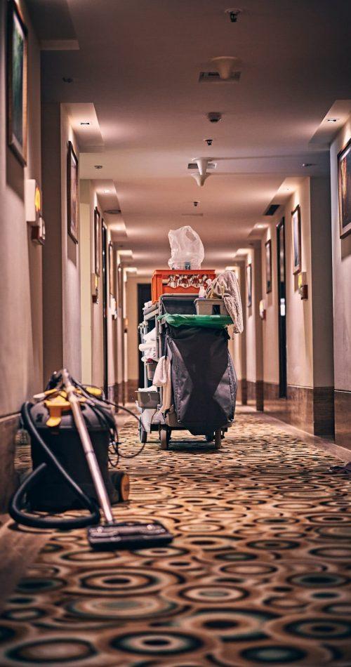 Les accessoires de ménage dans un hotel