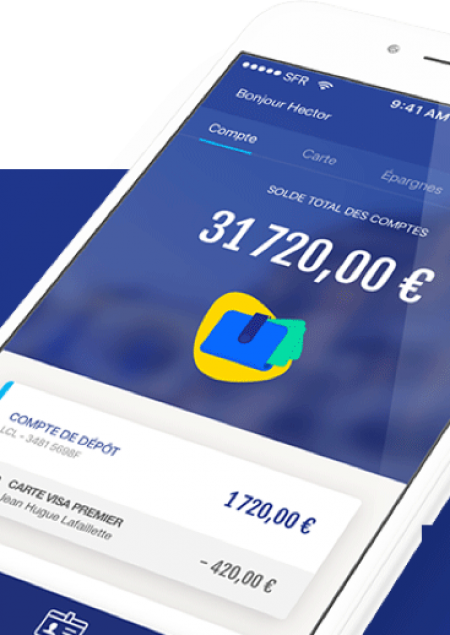 application mobile banque LCL