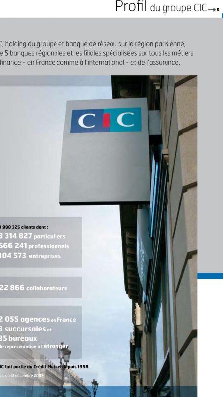 Les chiffres clés de la banque CIC