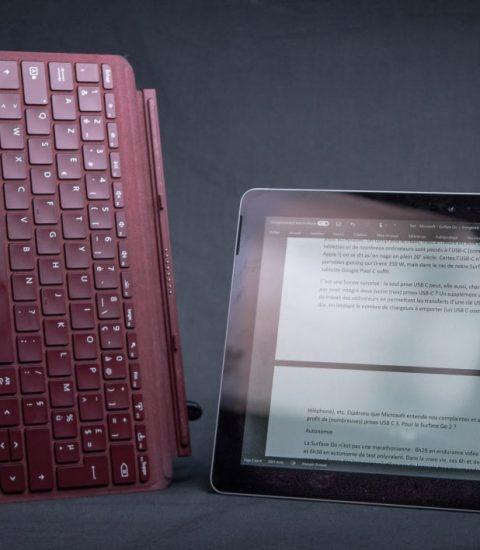 Tablette utilisé pour des tests durant un entretien d'embauche en support informatique